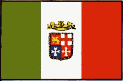 Italien mit Wappen