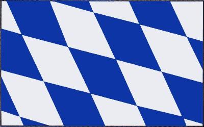 Bayern ohne Wappen (Größe ca. 60 cm x 90 cm)