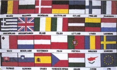 Europa-27 Nationen+ Europaflagge