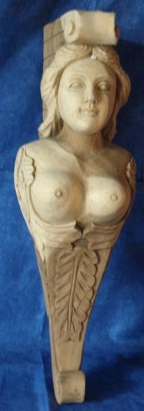 Galionsfigur 14, ca. 59 cm hoch, natur