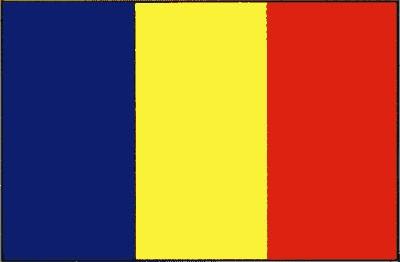 Rumänien ohne Wappen Gastlandflagge