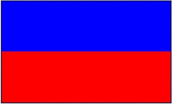 Haiti ohne Wappen Gastlandflagge