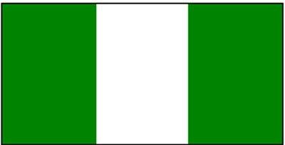 Nigeria ca. 100 cm x 150 cm