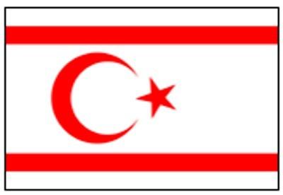 Zypern Nord (Restbestände) Gastlandflagge