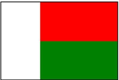 Madagaskar Gastlandflagge