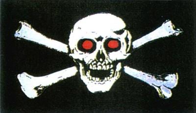 Pirat mit roten Augen