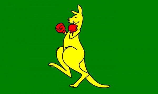 Australien : Boxendes Känguru