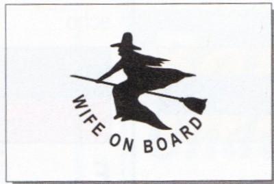 Frau an Bord (Spaßflagge) ca. 30 x 45 cm