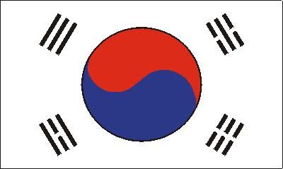 Südkorea (Größe ca. 60 cm x 90 cm)