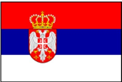 Serbien mit Wappen Gastlandflagge