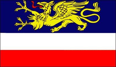 Stadtflagge Rostock (Größe ca. 60 cm x 90 cm)