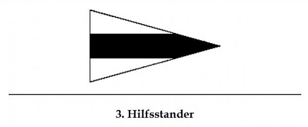 Signalflagge 3. Hilfsstander