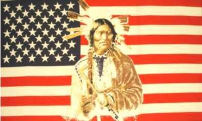 USA mit Indianer