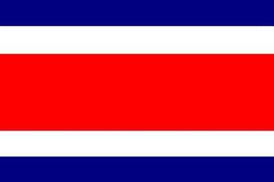 Costa Rica ohne Wappen Gastlandflagge