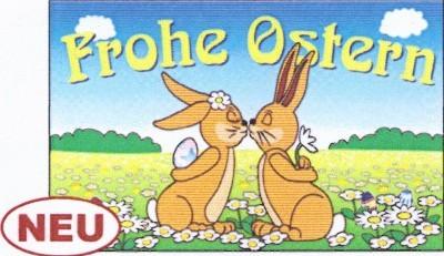 Ostern (mit küssenden Hasen)