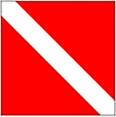 Taucherflagge (Michigan Diver) Suignalflagge