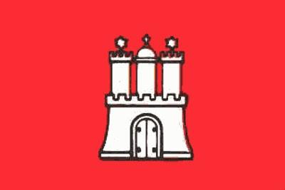 Hamburg Gastlandflagge