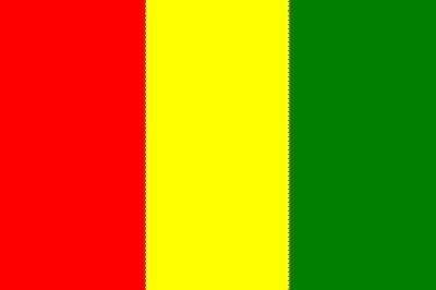 Guinea ohne Wappen ca. 100 cm x 150 cm
