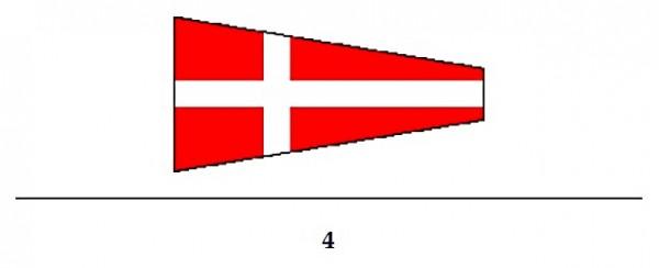 Signalflagge Ziffer 4