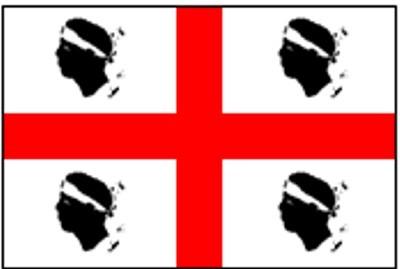 Sardinien Gastlandflagge