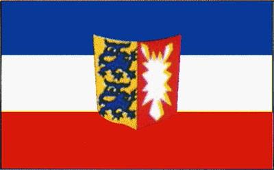 Schleswig - Holstein mit Wappen Gastlandflagge
