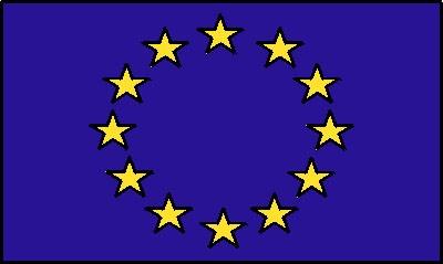Europa - Sternenkreis (Größe ca. 60 cm x 90 cm)