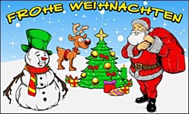 Weihnachten 5: Weihnachtsmann, Rentier, Schneemann FB