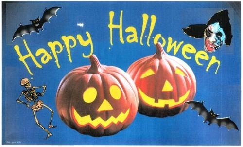 Halloween (mit Kürbissen)