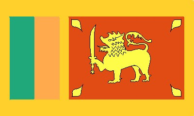 Sri Lanka Gastlandflagge
