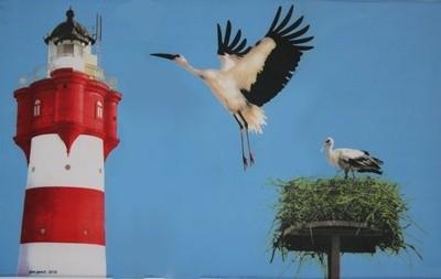 Storch (mit Leuchtturm)