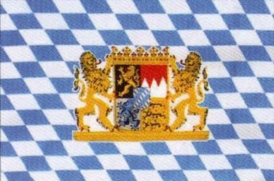 Bayern Staatsflagge (mit Wappen und Löwen