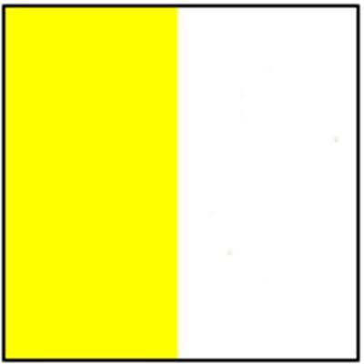 Vatikan ohne Wappen Gastlandflagge