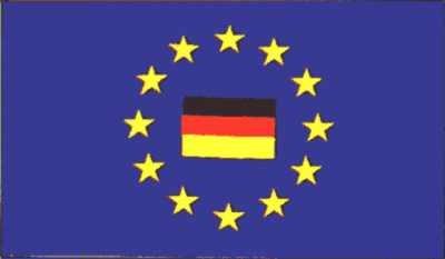 Europa - Sternenkreis mit Deutschland